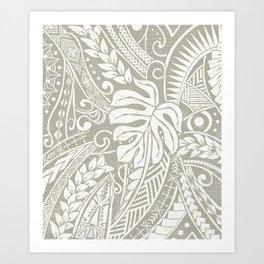 Vintage Organic Samoan Tribal Design Art Print