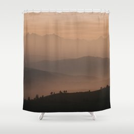 Mountain Love - Landscape and Nature Photography Shower Curtain