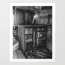 Monarch Stove Left Behind in a Ghost Town 2 Art Print