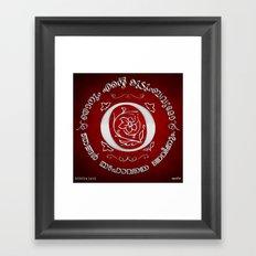 Joshua 24:15 - (Silver on Red) Monogram O Framed Art Print