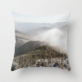 Winter in the White Mountains Throw Pillow