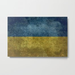 National flag of Ukraine, Vintage version (to scale) Metal Print
