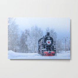 Time train Metal Print
