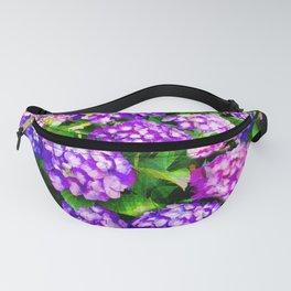 Elegant Purple & Lavender Hydrangea Fanny Pack