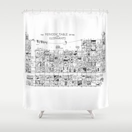 Periodic Table of the Elephants Shower Curtain