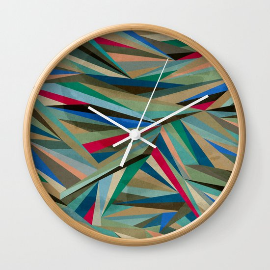 Travel Fragments Wall Clock