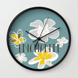Plumeria Flower Wall Clock