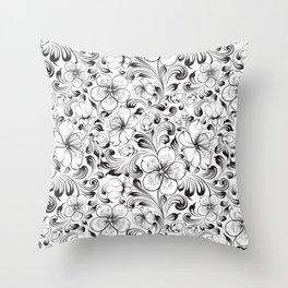 Sakura seamless pattern. Throw Pillow
