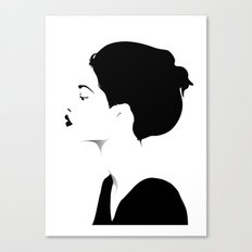 Woman in black & white Canvas Print