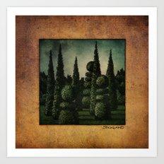 Secret Moonrise Garden Art Print