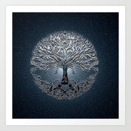 Tree of Life Nova Blue Art Print