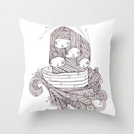 ship of fools Throw Pillow