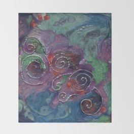 Blue and purple spirals Throw Blanket