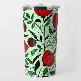 Poppy pattern Travel Mug