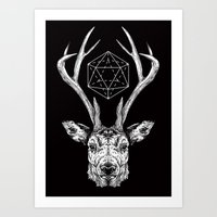 stag Art Prints featuring Stag by Andy Christofi