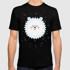 Sleeping Polar Bear Mens Fitted Tee Black MEDIUM