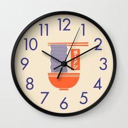 Ramen Minimal - Cream Wall Clock