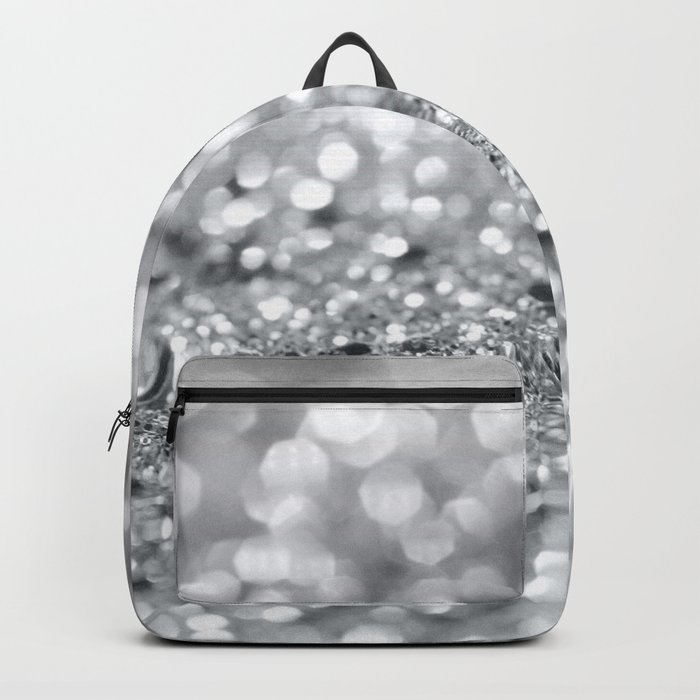Silver Gray Lady Glitter #1 #shiny #decor #art #society6 Rucksack