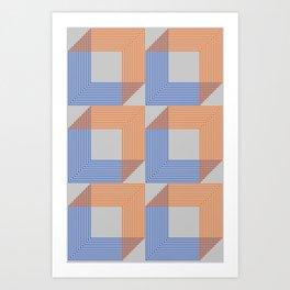 Isometric Cube Pattern Art Print