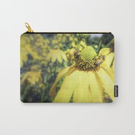 Bees on Yellow Flower Carry-All Pouch
