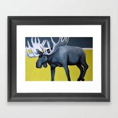 Minimalist Moose Framed Art Print