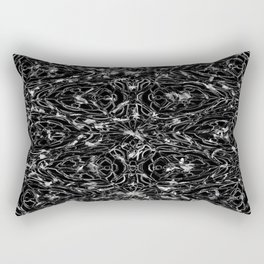 Black and white astral paint 5020 Rectangular Pillow