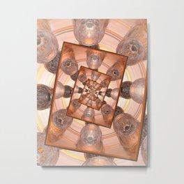 Infinite Reflections of Glass Metal Print