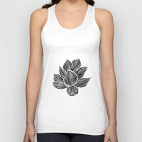 lotus flower Tank Tops featuring Lotus by MollySkipsey
