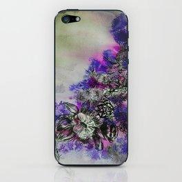 Purple Bouquet iPhone Skin
