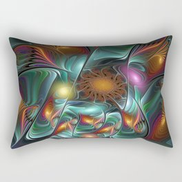 Luminous And Colorful, Abstract Fractal Art Rectangular Pillow