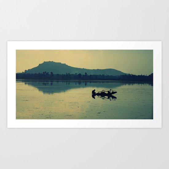 Kashmiri Boatman  Art Print