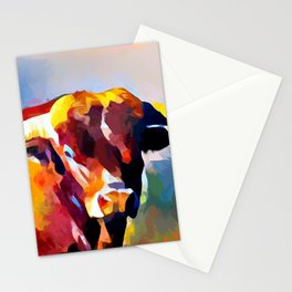Texas Longhorn 4 Stationery Cards