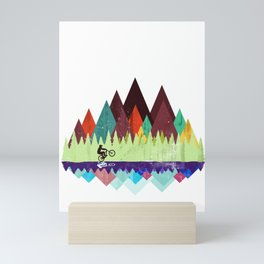 MTB retro Trails Mini Art Print