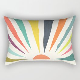 Rainbow ray Rectangular Pillow