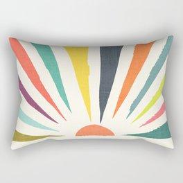 Rainbow ray Rectangular Pillow