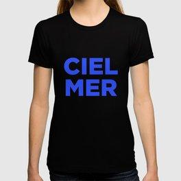 Ciel, Mer (Bleu) T-shirt