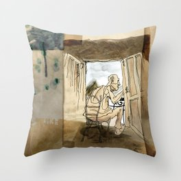 The Black House on the Hill Throw Pillow