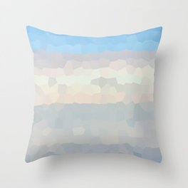 crystal sky Throw Pillow