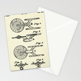 Starship Enterprise Startrek -1981 Stationery Cards