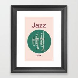 Jazz Relax Framed Art Print