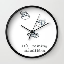 It's Raining Mandibles Wall Clock