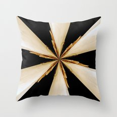 Black, White and Gold Star Throw Pillow
