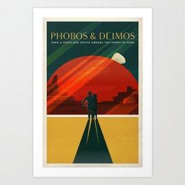 SpaceX Mars tourism poster / DP Art Print
