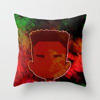 kendrick lamar Throw Pillows featuring Kendrick Chibi by UnifiedGlory