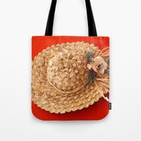 hat Tote Bags featuring Hat  by Gaspar Avila