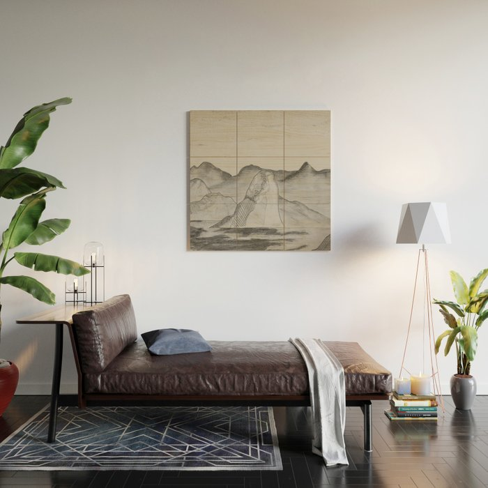 Mountain Range Wood Wall Art By Abbey Siek
