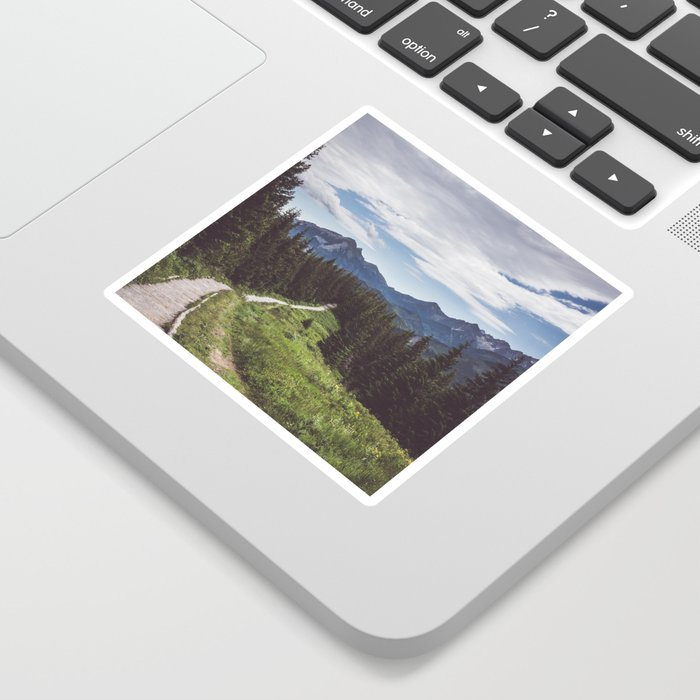 Greetings from the trail - Landscape and Nature Photography Sticker