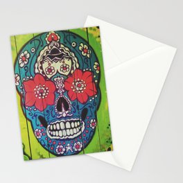 Mexican skull collection Stationery Cards