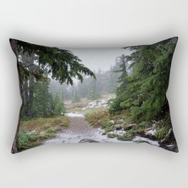 The First Mountain Snowfall Rectangular Pillow