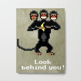 Three-Headed Monkey V2 Metal Print